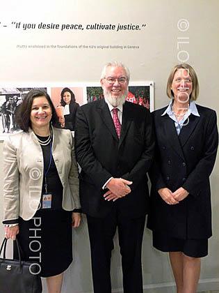 Exhibition commemorating the 90th Anniversary of the ILO at UN in New York