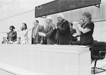 1998: 86th Session of the International Labour Conference <br> Building a social floor for all: ILO Declaration on Fundamental Principles and Rights at Work