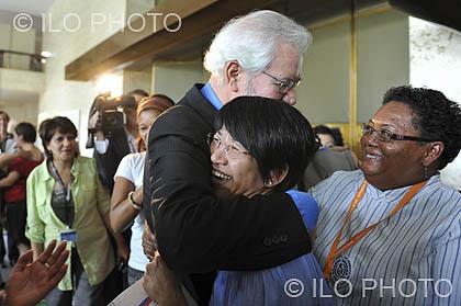 2011: 100a Reunión de la Conferencia Internacional del Trabajo <br> Normas laborales para los trabajadores domésticos