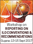Graphic for Workshop on Reporting on ILO Conventions and Recommendations, September 2017