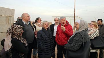 ILO donors visit refugee response frontline in Jordan