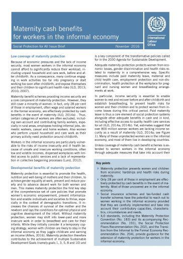 Ilo decent work agenda and informal economy benefits economics essay