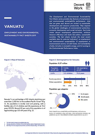 Employment And Environmental Sustainability In Vanuatu