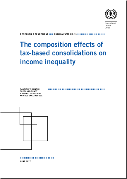 Research Department Working Papers The Composition Effects Of Taxbased Consolidations On Income Inequality