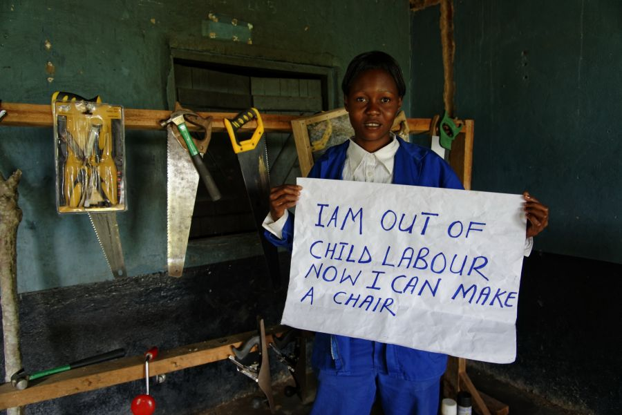 Like Memory Kaziki Banda, 319 other children have completed vocational training in the Project Outreach Centre.