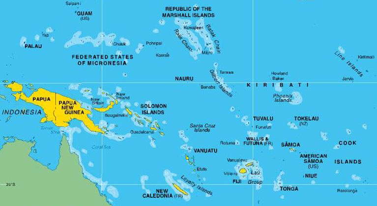 About The ILO In The Pacific ILO In The Pacific - Us And Pacific Countries Maps