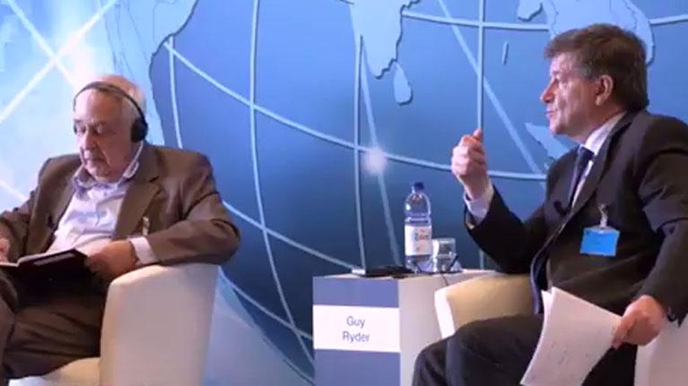 Reviva la sesión de apertura del Diálogo internacional sobre el futuro del trabajo que queremo