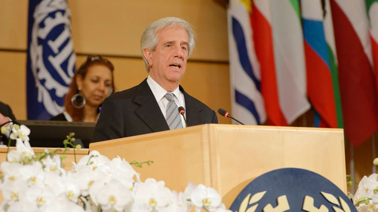President of Uruguay at the ILO Conference: Social dialogue and collective bargaining are essential for progress