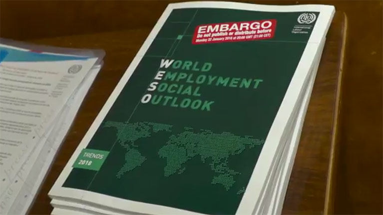 B-roll: Unemployment and decent work deficits  to remain high in 2018
