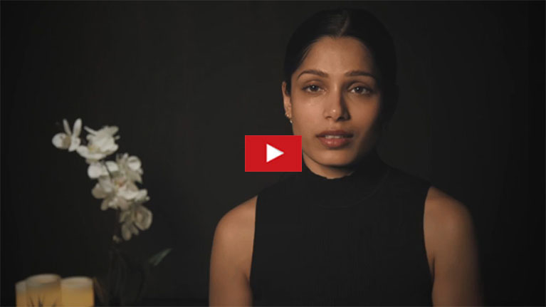 Freida Pinto gives a voice to a girl trapped in modern slavery