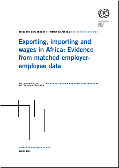 Research Department Working Paper n°26: Exporting, importing