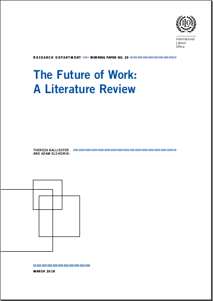 Research Department Working Paper n°29: The Future of Work: A