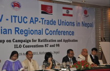 The Conference was held to review and evaluate the developments that have taken place after the 2009 conference which was held in Kuala Lumpur, Malaysia on the campaign for ratification and application of ILO Conventions 87 and 98 on Freedom of Association and Collective Bargaining.