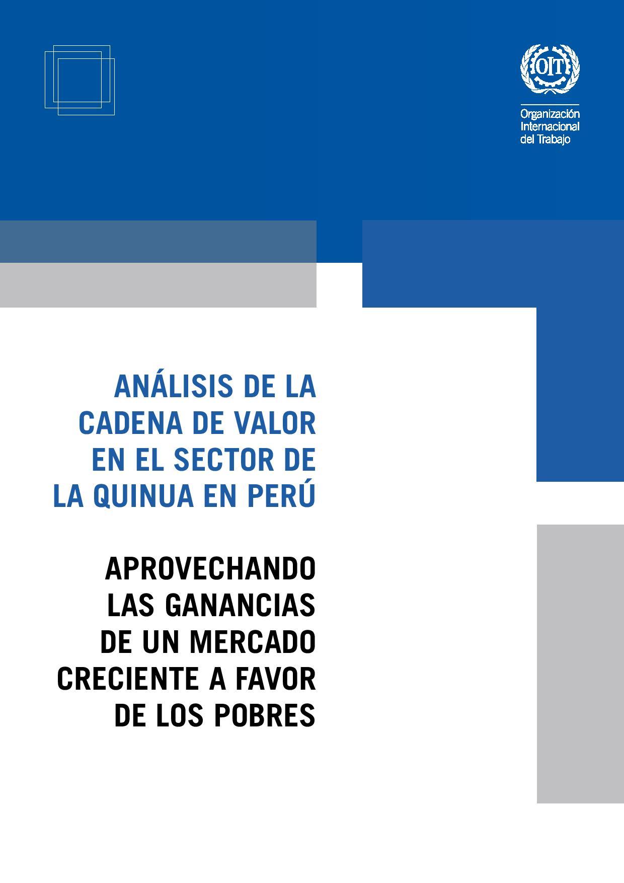Document in spanish: Value chain analysis in Peru's quinoa sector