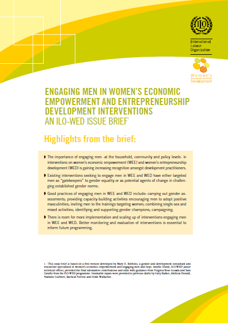 women s entrepreneurship development wed programme enterprises  engaging men in women s economic empowerment and entrepreneurship development interventions