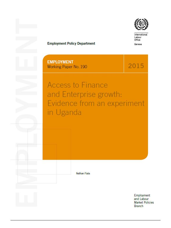 THUMB Access to Finance and Enterprise growth: Evidence from an