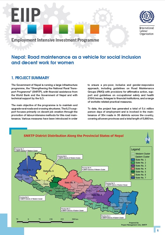 EIIP Policy Brief: Nepal: Road maintenance as a vehicle for