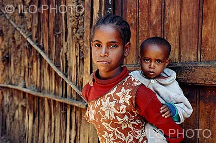 Addis Ababa, Ethiopia  Young girl working for a family as a