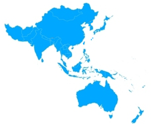 Map of Asia and the Pacific