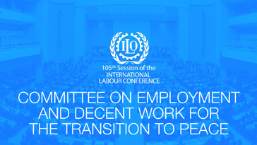 105th International labour Conference: Job creation and employment