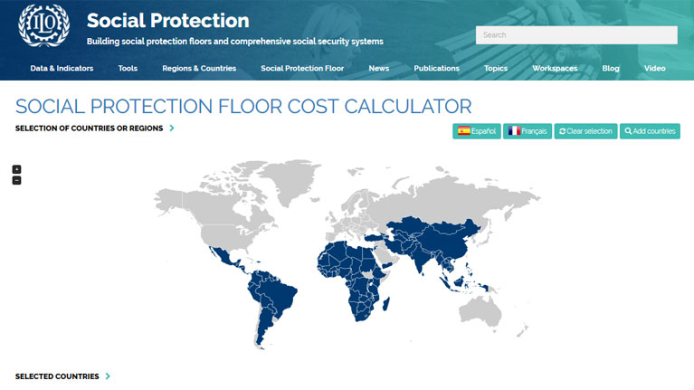 ILO Social Protection Floors Calculator: Social protection