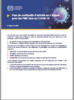 Vignette document Plan de continuité d'activité en 6 étapes pour les PME face au COVID-19